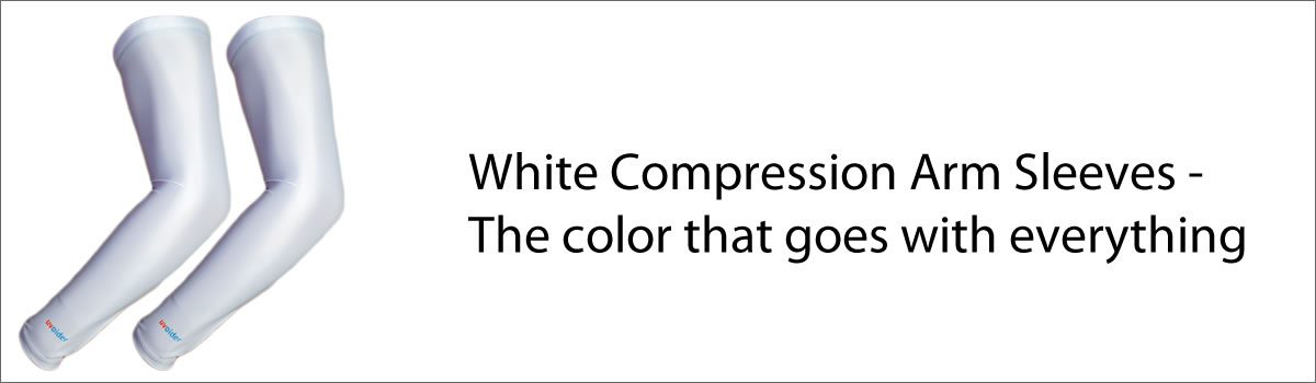 White Compression Arm Sleeves – The color that goes with everything