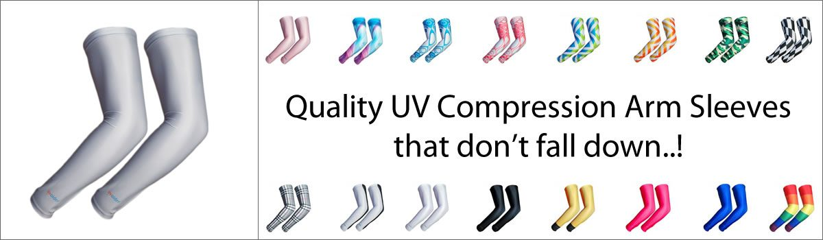 Quality UV Compression Arm Sleeves that don't fall down..!