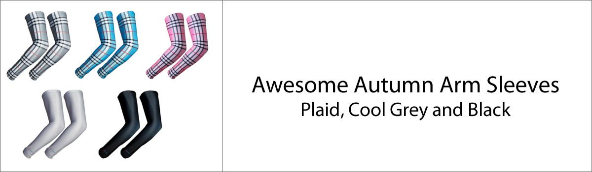 Awesome Autumn Arm Sleeves – Plaid, Cool Grey and Black