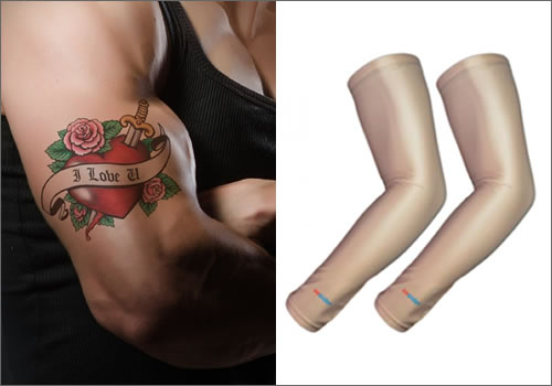 Sun Protect Tattoos with UV Arm Sleeves
