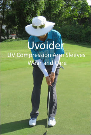 Uvoider UV Compression Arm Sleeves Wear and Care