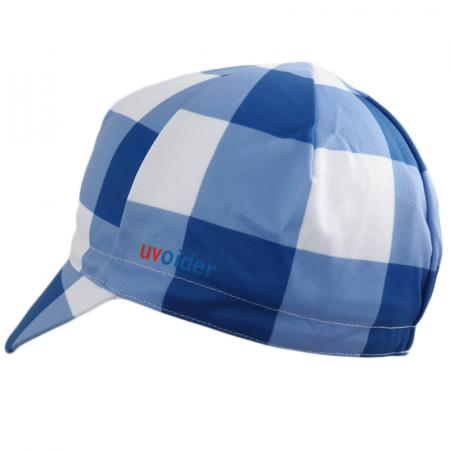 UV Cycling Cap 320 Blue Gingham