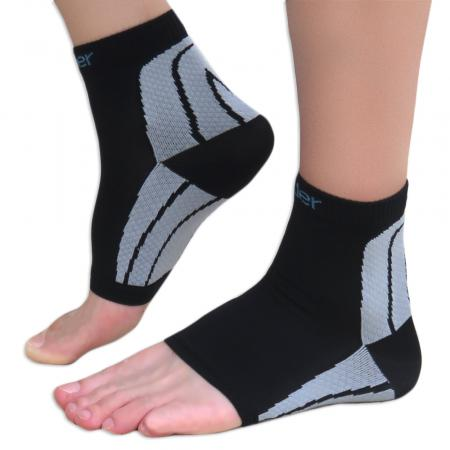 Compression Foot Sleeves - More Support Series 20-30 mmHg 1 Black