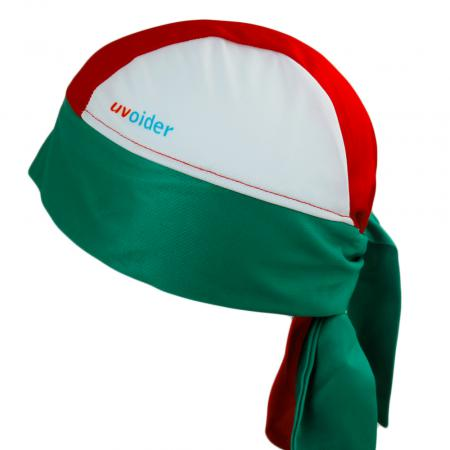UV Bandana Skull Cap 326 Red/White/Green