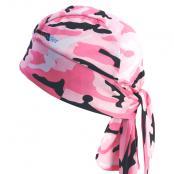 UV Bandana Skull Cap 330 Pink Camouflage