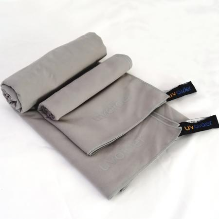 Sports and Travel Towel Set 4 Grey