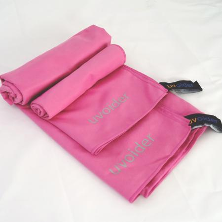 Sports and Travel Towel Set 5 Pink - Sizes M and L
