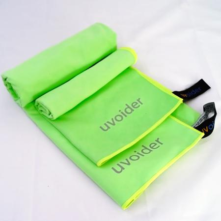 Sports and Travel Towel Set 7 Fluorescent Green - Sizes M and L