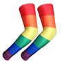 UV Arm Sleeves 214 Rainbow