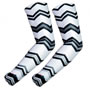 UV Arm Sleeves 233 Black and White Chevrons