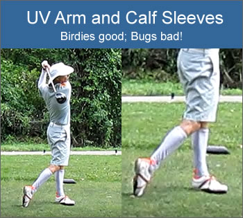 UV Compression Arm and Calf Sleeves - Birdies Good; Bugs Bad!