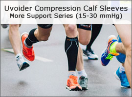 Uvoider Compression Calf Sleeves - More Support Series (15-30 mmHg)