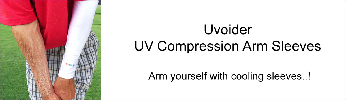 Uvoider UV Compression Arm Sleeves - Arm yourself with cooling sleeves..!