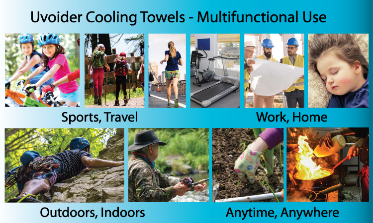 Uvoider Cooling Towels - Multifunctional Use