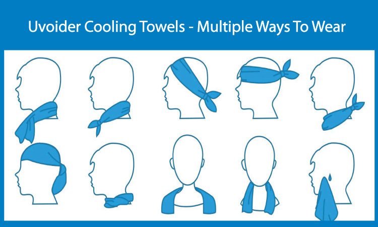 Uvoider Cooling Towels - Multiple Ways To Wear