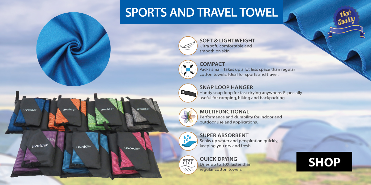 Sports And Travel Microfiber Towels
