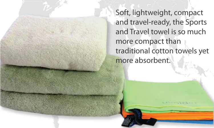 Uvoider Sports and Travel Towels are soft, lightweight, compact and travel-ready